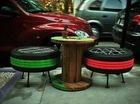 Biến hoá lốp xe thành đồ trang trí nội thất
