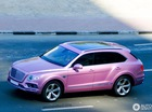 Chiếc SUV siêu sang Bentley Bentayga màu hồng đầu tiên trên thế giới