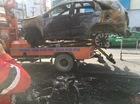Sài Gòn: Kia Sorento đâm chết người, bỏ chạy rồi cháy trơ khung