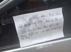Học sinh lớp 11 đâm vỡ gương Mazda3 để lại lời nhắn cho chủ xe gây sốt mạng xã hội