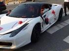 Siêu xe Ferrari 458 Italia đi đón dâu bị đâm ngang sườn, hư hỏng nặng