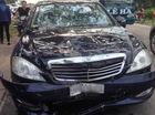 """Quảng Ninh: Mercedes-Benz S550 """"toác đầu"""" vì va chạm với xe máy"""