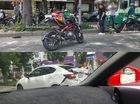 Sài Gòn: Chạy vào làn ô tô, biker cầm lái Benelli BN302 gây tai nạn