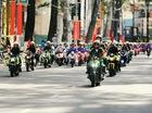"""Đoàn mô tô """"khủng"""" dẫn đoàn 100 xe đạp điện rước dâu tại Sài thành"""