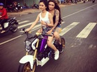 """Xôn xao hot girl Tiền Giang chạy Honda MSX 125 """"độ"""" không mũ bảo hiểm trên phố"""