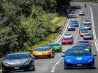 Dàn siêu xe Lamborghini diễu hành tại quê nhà