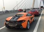 Vừa thông quan, McLaren 570S màu cam dạo phố cùng Ferrari F12 Berlinetta