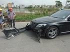 Bắc Ninh: Mercedes-Benz S400 tông vào xe máy, một phụ nữ nhập viện