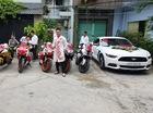 """Ford Mustang 2 tỷ Đồng cùng biệt đội mô tô """"khủng"""" rước dâu tại Sài thành"""