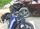 Hà Giang: Yamaha Exciter 150 đâm vào Toyota Corolla Altis, một người gãy xương đùi