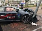 Xe chạy thử Honda Civic Turbo 2017 gặp tai nạn đáng tiếc