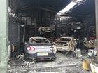 Gara ô tô bốc cháy ngùn ngụt, siêu xe Nissan GT-R trơ khung