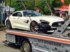 Chiếc siêu xe Mercedes-AMG GT R đầu tiên gặp nạn trên thế giới