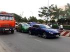 Sài Gòn: Maserati Ghibli 5,3 tỷ Đồng bị taxi húc vào đuôi
