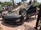 Bắc Giang: Nissan X-Trail chạy thử của đại lý lao lên vỉa hè, lật ngửa