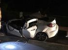 Đâm vào đuôi xe tải trên cao tốc Hà Nội - Thái Nguyên, Mazda3 bị vò nát