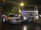 Hà Nội: Va chạm với xe bồn, Bentley Continental GT Speed vỡ đầu