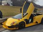 Siêu xe Lamborghini Murcielago gặp nạn trên xa lộ