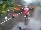 Xe tải vượt ẩu, đâm trực diện xe máy trên đèo Bảo Lộc