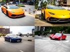 """Cường """"Đô-la"""" cùng hàng loạt siêu xe đại gia Sài thành dạo phố mùng 2 Tết Đinh Dậu"""