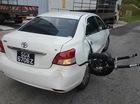 """Kinh hoàng hiện trường vụ tai nạn của Toyota Vios và mô tô chuyên """"phượt"""" BMW R1200GS"""