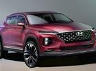 Hyundai Santa Fe thế hệ mới lần đầu lộ diện ảnh phác thảo