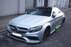 Mercedes-AMG C63S Coupe bị trộm cả 4 bánh xe khi đỗ trên phố