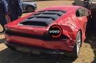 Lamborghini Huracan gặp nạn trong