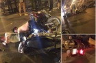 Hà Nội: Honda SH chở 3 tông vào Honda Wave lúc nửa đêm, 1 người tử vong tại chỗ