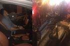 Hải Phòng: Nam thanh niên vừa hít bóng vừa lái ô tô, gây tai nạn liên hoàn