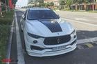 """Maserati Levante độ Novitec duy nhất tại Việt Nam """"lột áo"""" xanh rêu chơi Tết"""