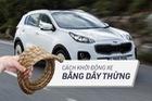 [Photo Story] Cách khởi động xe hơi chỉ bằng một sợi dây thừng trong trường hợp khẩn cấp
