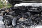 Nghệ An: Mazda BT-50 bốc cháy ngùn ngụt trên đường