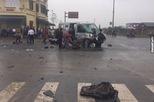 Hà Nam: Xe đi đón dâu va chạm với ô tô tải, 17 người thương vong