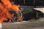 """""""Siêu bò"""" Lamborghini Gallardo 1.000 mã lực bốc cháy ngùn ngụt"""