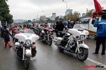 Hơn 60 xe Harley-Davidson tiền tỷ dẫn đoàn U23 Việt Nam tại Hà Nội