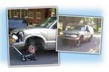 Gặp tai nạn, dân chơi chán đời không thèm sửa, dùng luôn tay đòn thay bánh xe trước