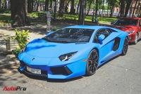 Siêu xe Lamborghini Aventador xanh dương độc nhất Việt Nam xuất hành đầu năm