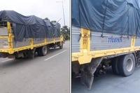 Cặp đôi container đủng đỉnh trên đường thử thách sự kiên nhẫn của đoàn xe phía sau - ảnh 3