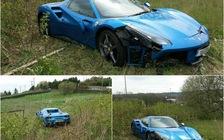 Bị tai nạn, chủ nhân Ferrari 488 GTB vứt luôn xe tại chỗ, không thèm quay lại lấy