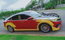 Lột lớp hoá trang người nhện, chiếc Honda Civic tại Sài Gòn lại đổi phong cách người sắt