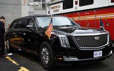 """Limousine """"The Beast"""" hoàn toàn mới của tổng thống Donald Trump lần đầu lộ diện"""