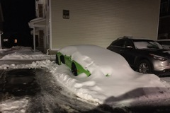 """Siêu xe Lamborghini Aventador của sinh viên đại học bị """"đóng băng"""""""