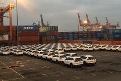 Lô ô tô Honda nhập về cảng Hải Phòng chưa hoàn thành đăng kiểm