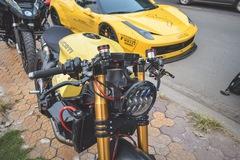 Chủ xe Ferrari 458 Italia độ Liberty Walk mua lại Ducati Panigale 1199 S độ Cafe Racer độc nhất Việt Nam
