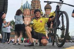 World Cup 2018: Lại xuất hiện thêm một fan bóng đá đạp xe 5.000km sang Nga để cổ vũ cho đội nhà