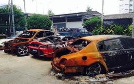 """Một vụ cháy """"giết chết"""" bốn siêu xe và xe hạng sang"""