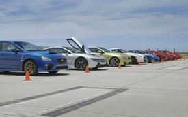 10 siêu xe và xe thể thao cùng tranh tài trên đường đua 400m