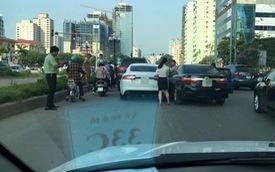 Nóng trong ngày: Tai nạn liên hoàn giữa 3 xe tiền tỷ tại Hà Nội