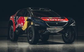 """Cận cảnh """"quái vật"""" Peugeot 2008 DKR 2016 trong bộ cánh Red Bull"""